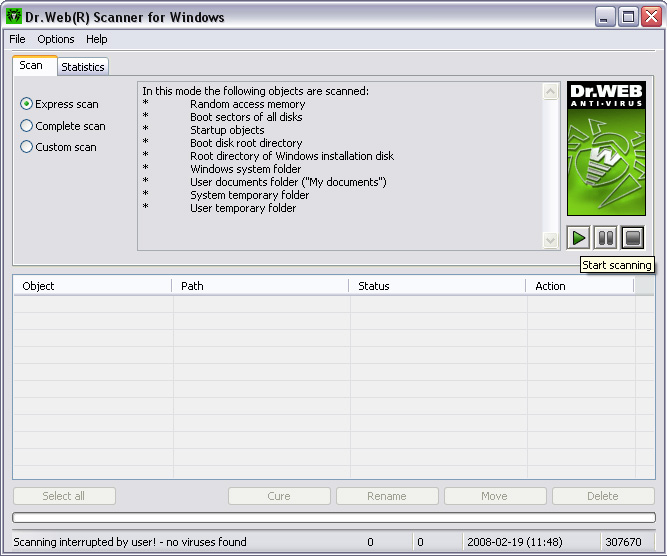 Dr.Web for Windows Anti-virus + Anti-spam 4.33